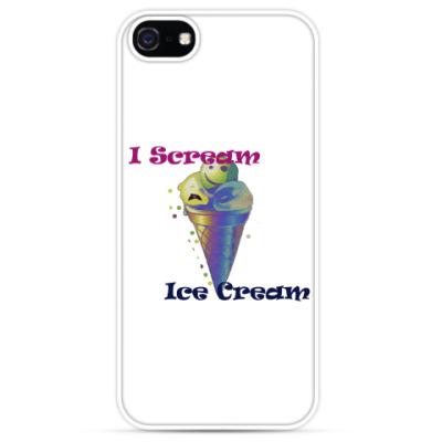 Чехол для iPhone  Прикольное мороженое