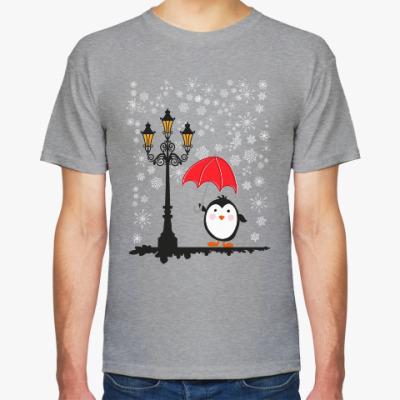 Футболка Пингвин в снегу