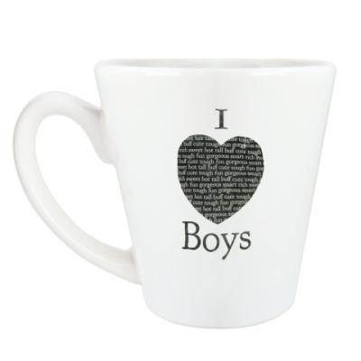 Чашка Латте I Love Boys