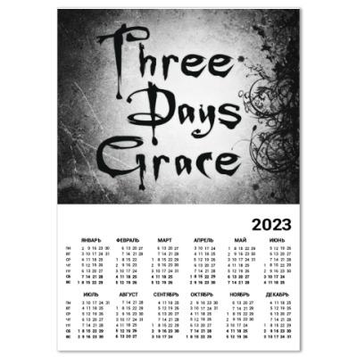 Календарь Three Days Grace