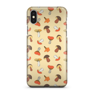 Чехол для iPhone X different mushrooms