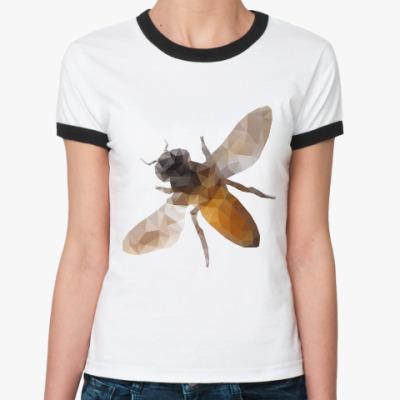 Женская футболка Ringer-T Пчела / Bee