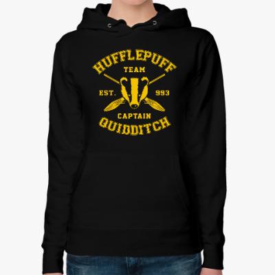 Женская толстовка худи Hufflepuff Quidditch