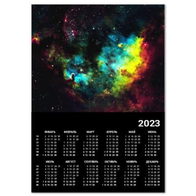 Календарь Туманность в космосе