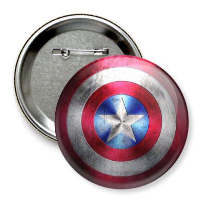 Значок 75мм Капитан Америка
