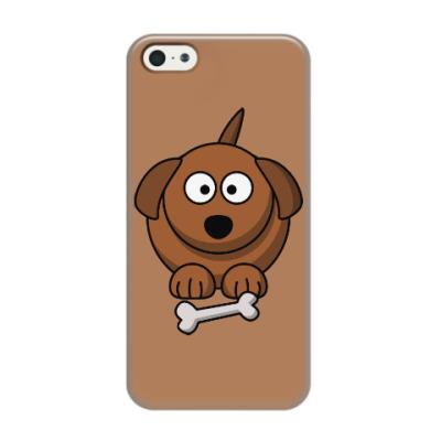 Чехол для iPhone 5/5s Собачка с косточкой