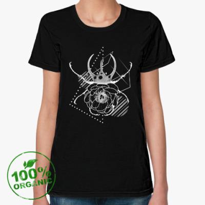 Женская футболка из органик-хлопка Жук