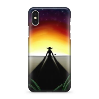 Чехол для iPhone X Провожая Солнце