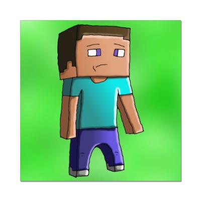 Наклейка (стикер) Minecraft Steve