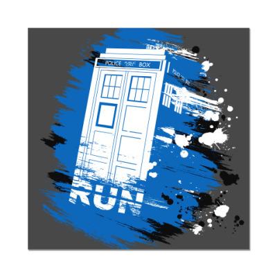 Наклейка (стикер) RUN