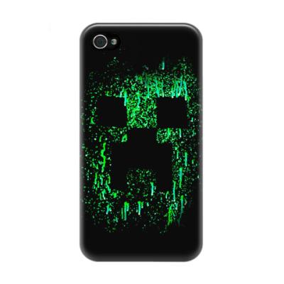 Чехол для iPhone 4/4s Minecraft Creeper