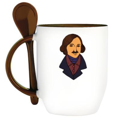 Кружка с ложкой Гоголь