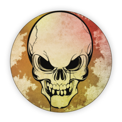 Костер (подставка под кружку) The skull