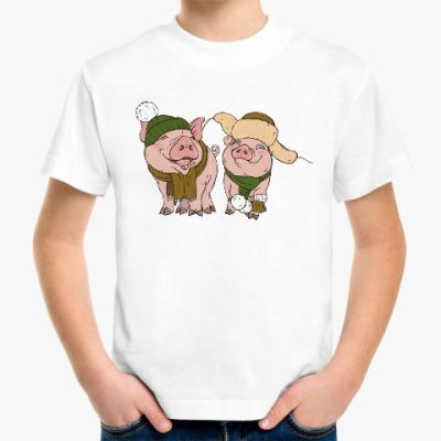 Детская футболка 2019 год Свиньи