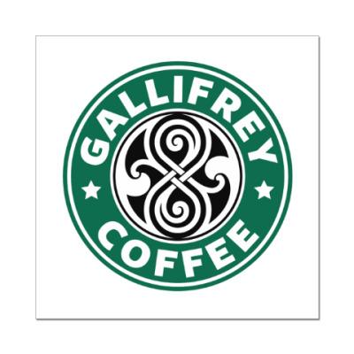 Наклейка (стикер) Gallifrey Coffe