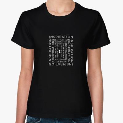 Женская футболка Вдохновение внутри