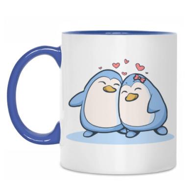 Кружка Влюбленные пингвины