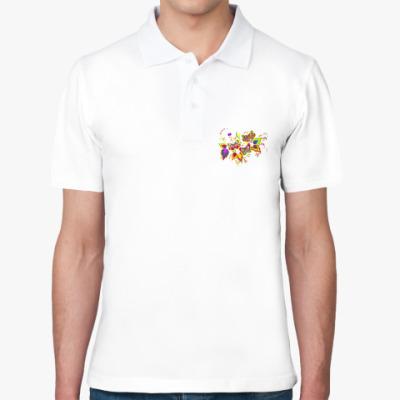 Рубашка поло flowers
