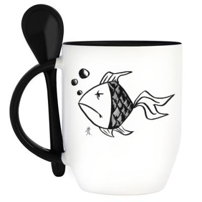 Кружка с ложкой Рыба твоей мечты