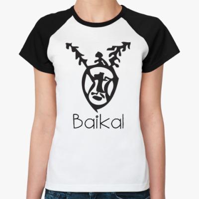 Женская футболка реглан Байкал