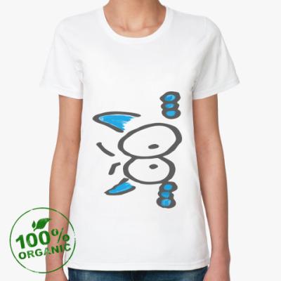 Женская футболка из органик-хлопка Кот