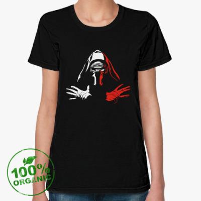 Женская футболка из органик-хлопка Звездные войны Кайло Рен
