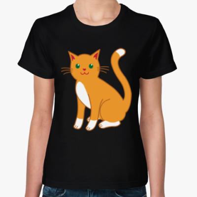 Женская футболка Котейка