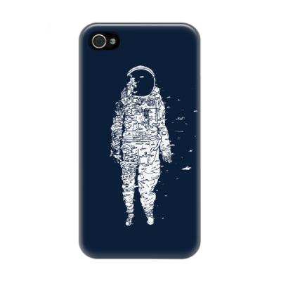 Чехол для iPhone 4/4s Космонавт