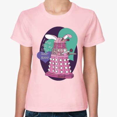 Женская футболка Далек зая