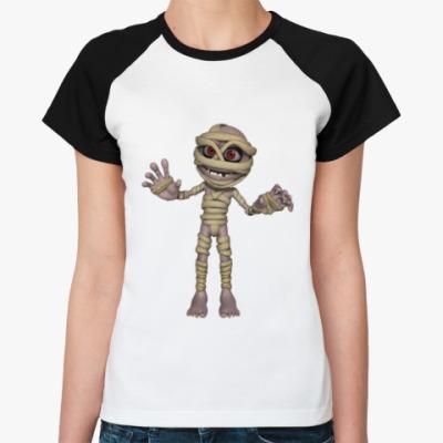 Женская футболка реглан Мумия