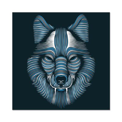 Наклейка (стикер) Волк