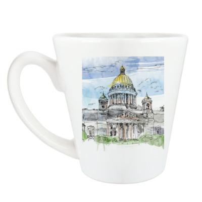 Чашка Латте Исаакиевский собор