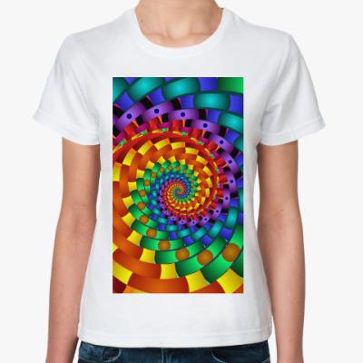 Классическая футболка Радужный вихрь