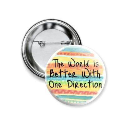 Значок 37мм One Direction