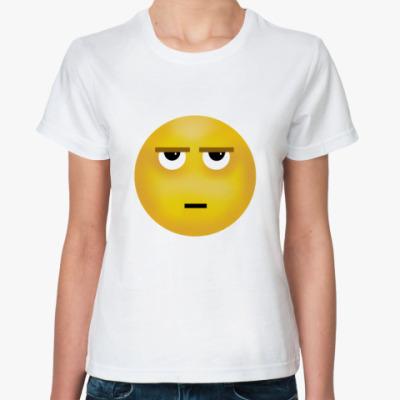 Классическая футболка  'Смайл - I'm bored'