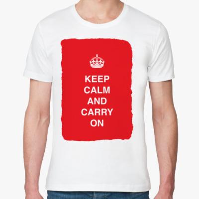 Футболка из органик-хлопка Keep calm and carry one