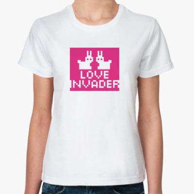 Классическая футболка Love Invader