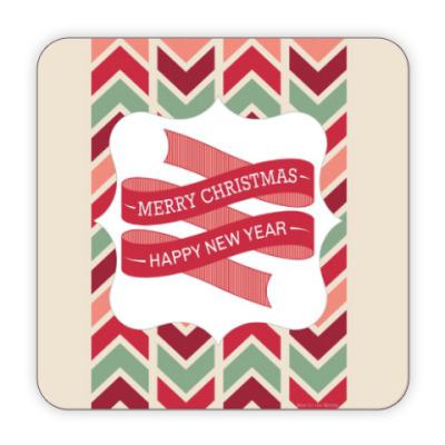 Костер (подставка под кружку) 'С новым годом и рождеством'