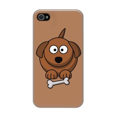Чехол для iPhone 4/4s Собачка с косточкой
