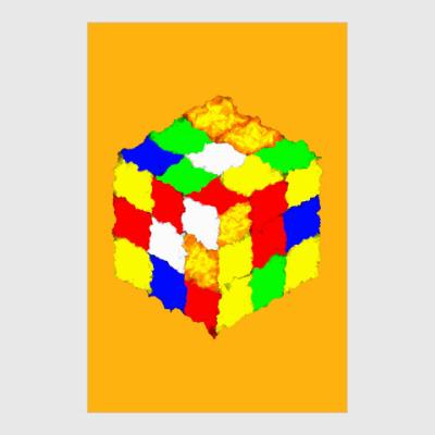 Постер Кубик Рубика
