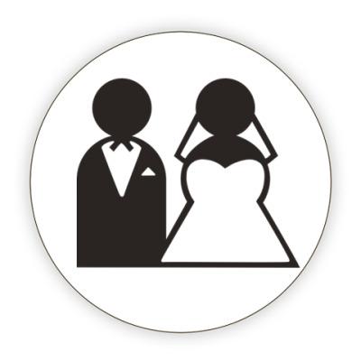 Костер (подставка под кружку) Just Married