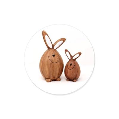 Виниловые наклейки влюбленные зайчики пара радость подарок