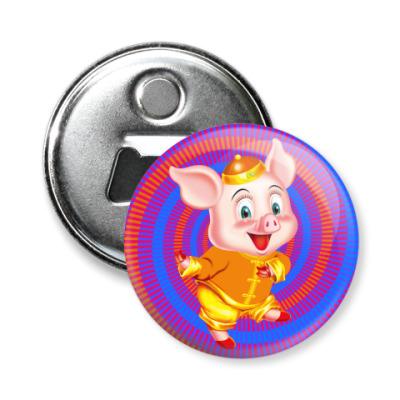 Магнит-открывашка Happy Piggy Year