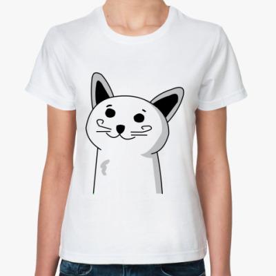 Классическая футболка кот, который знает про тебя