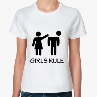 Классическая футболка Girls rule