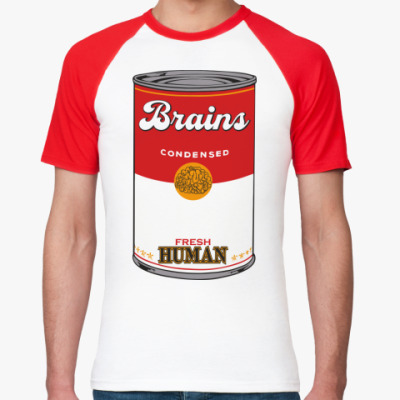 Футболка реглан BRAINS FRESH HUMAN