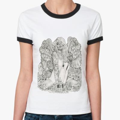 Женская футболка Ringer-T Money Angel