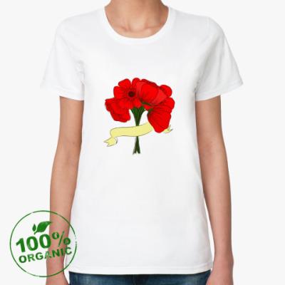 Женская футболка из органик-хлопка Маки