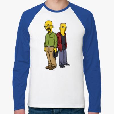 Футболка реглан с длинным рукавом Breaking Bad Simpsons