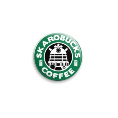 Значок 25мм Skaro Coffee DOCTOR WHO Dalek